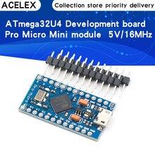 Pro Micro 5V 16MHz remplacer ATmega328 pour Arduino Pro Mini avec 2 rangées de broches en-tête pour Leonardo Mini Interface Usb