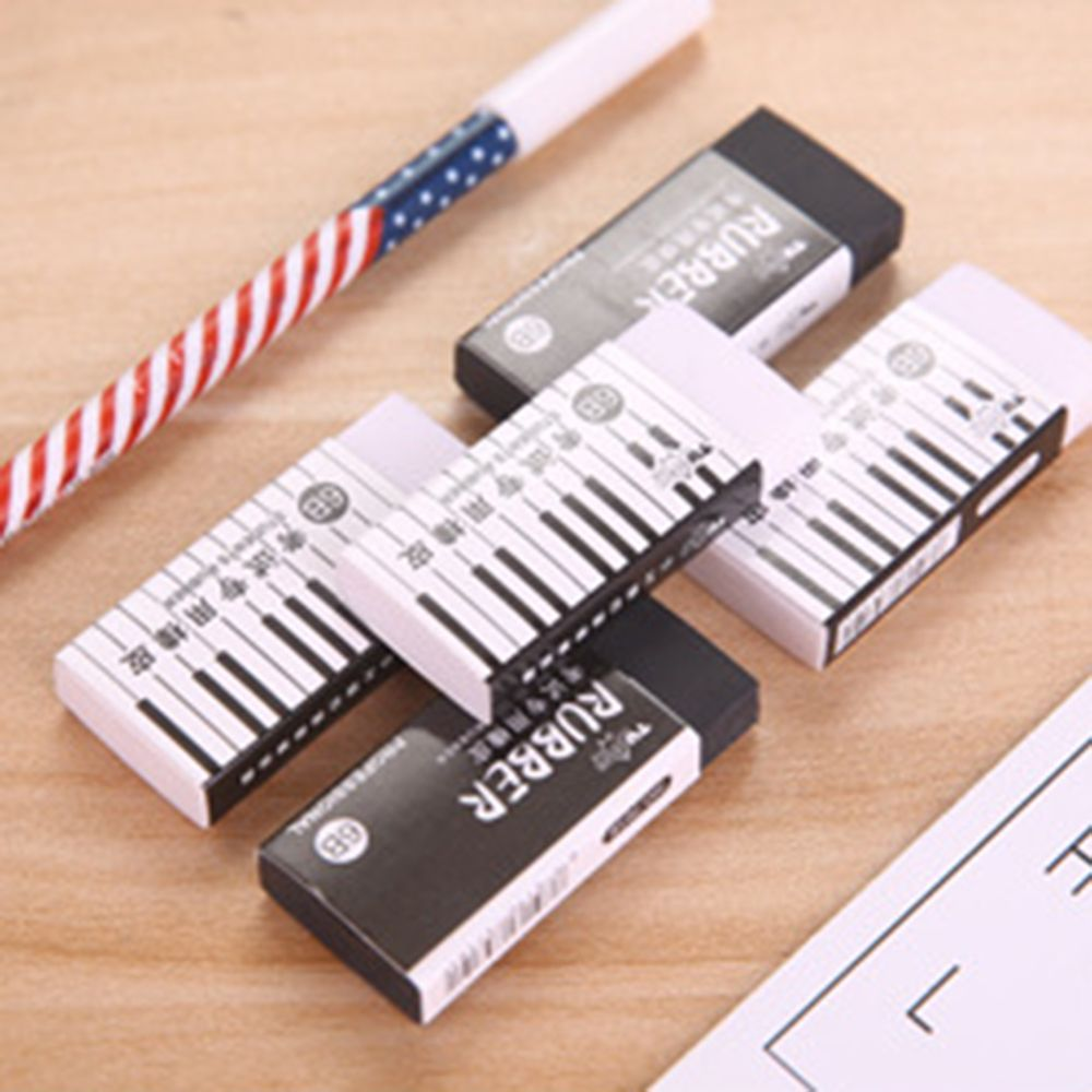 1PCS 6B Piano Exam With Eraser Student Correction Pencil Eraser Learning Stationery School Office Supply