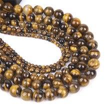 4 мм-12 мм бусины из натурального камня тигровый глаз для самостоятельного изготовления ювелирных изделий бусины тигровый глаз браслет аксессуары для мужчин и женщин