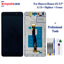 For Huawei Honor 6X LCD Display Touch Screen Digitizer Assembly With Frame Replacement