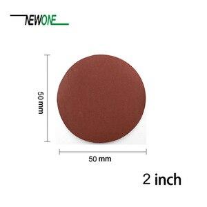 100 шт 2 дюйма 50 мм Смешанная шлифовальная наждачная бумага в абразивном инструменте с 3 мм хвостовиком шлифовальная Задняя накладка