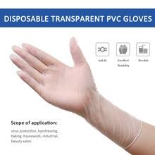 50/100/200 pces antiderrapante descartável transparente antiestático plasitc luvas casa processamento de alimentos limpeza cozinhar beleza acessório
