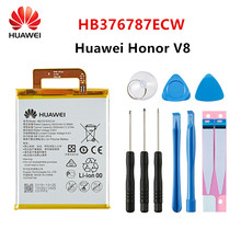 Hua Wei 100% Orginal HB376787ECW 3500mAh Battery For Huawei Honor V8 HB376787ECW Replacement Batteries +Tools недорого