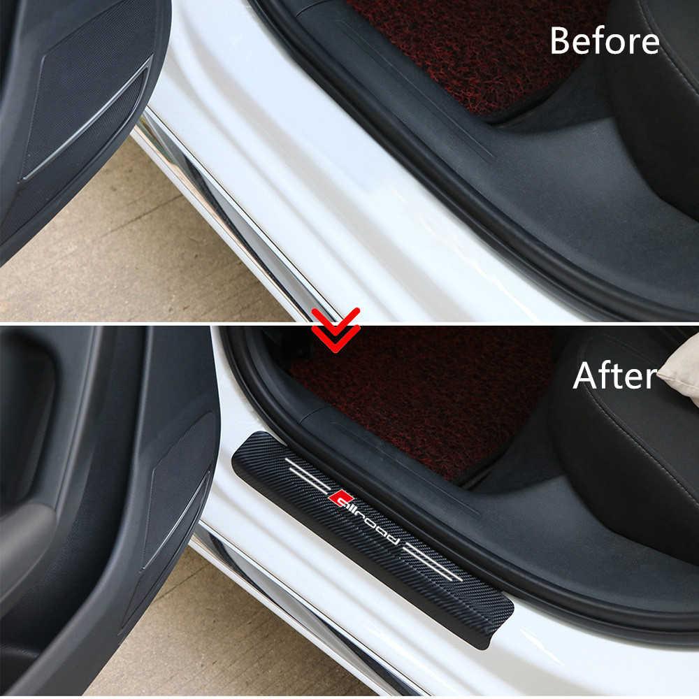 4 pezzi in fibra di carbonio Allroad decalcomanie adesivo per Audi A4 A6 Porte, soglie guardie sticker