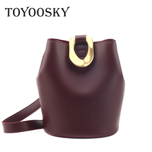 TOYOOSKY Fashion Ladies Bucket Bag Designer Handbags Women Bags 2019 Luxury Small Retro Day Clutch Girls Crossbody