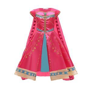Image 5 - Aladdin Costume Jasmine Dress Pink Fuchsia Outfit For Kids