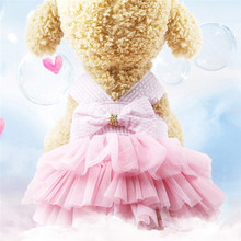 1 pc Teddy Puppy Wedding Dresses Skirt Pet Dog Dress Clothes Sweet Princess For Labrador Small Medium Supplies
