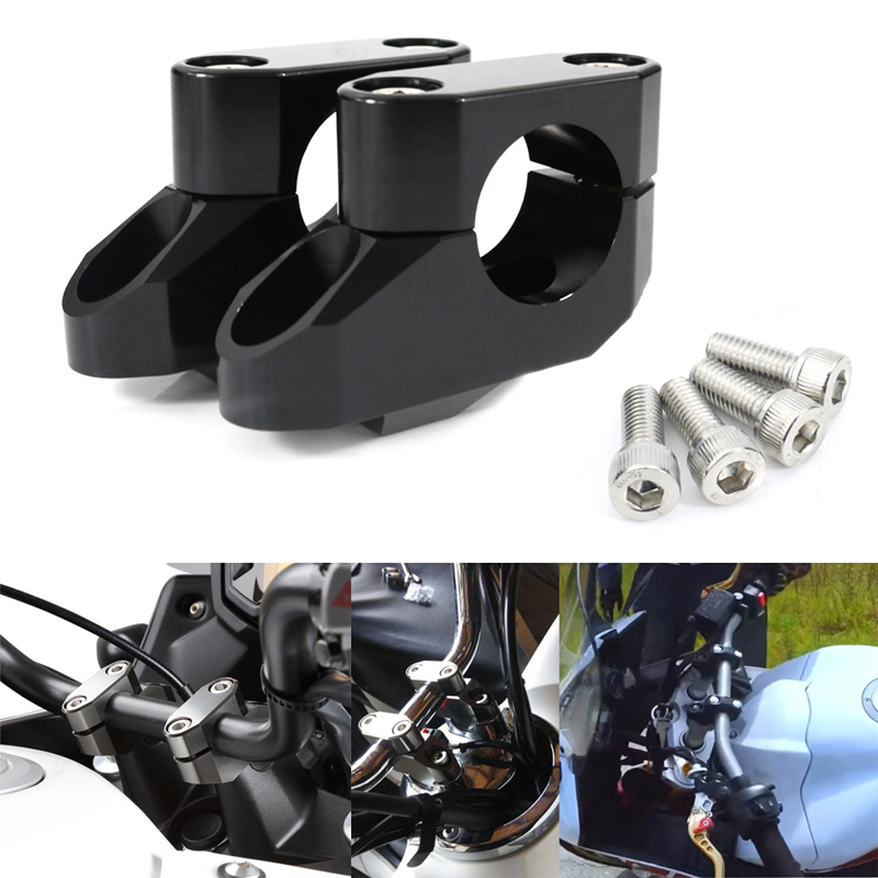 XR50 T6 Billet XR80 Motorcycle 7//8 Handlebar Spacer Kit XR650 BlackPath Fits Honda 1 Handlebar Risers XR400 XR70 Silver XR600