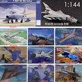 1: 144 Китай Россия США Истребитель Военный пластиковый сборочный Самолет Модель 9 видов на выбор