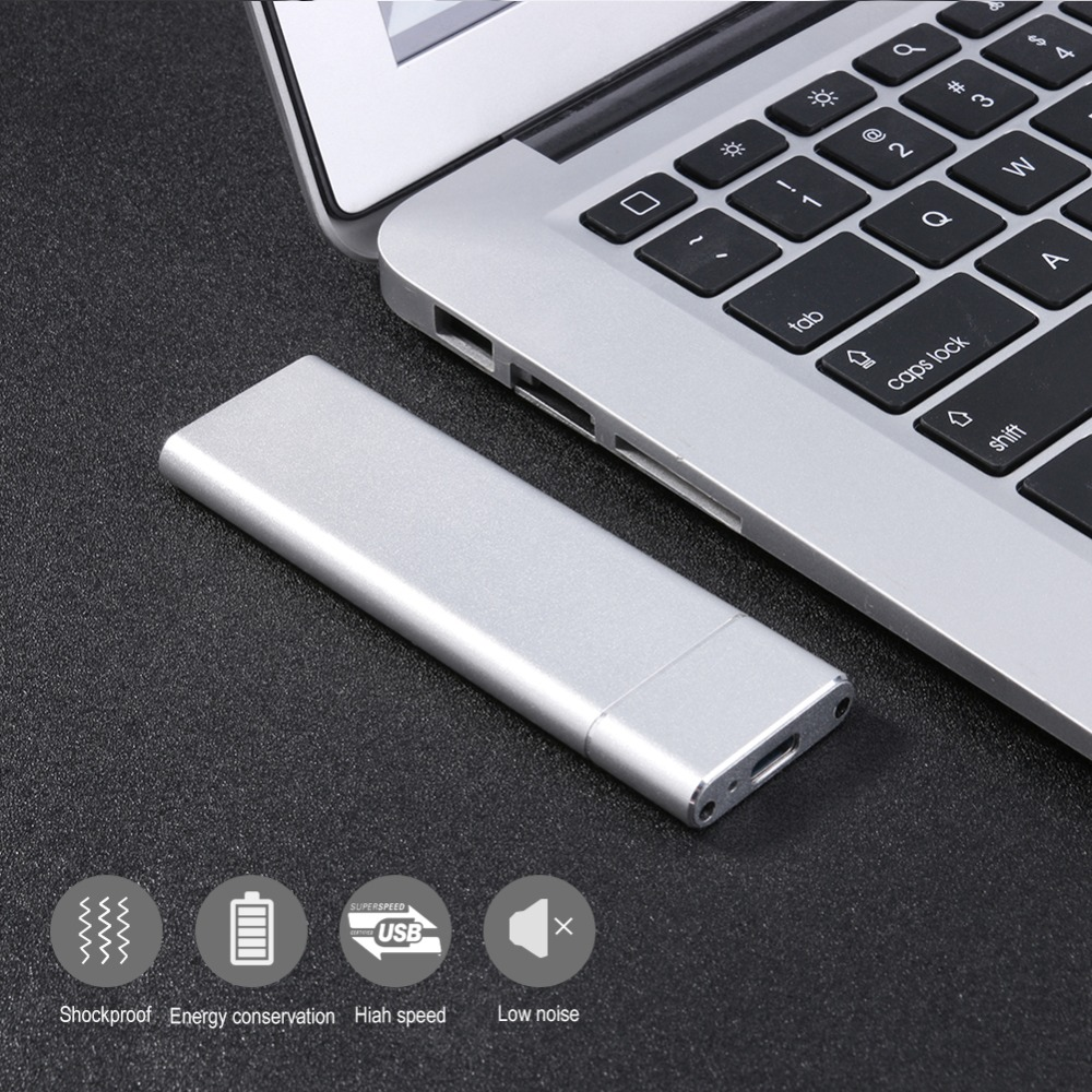 M.2 NGFF SSD 6Gbps to USB 3.1 Type-C Converter Adapter Solid State Disk Enclosure Case Box for PC Laptop Computer Macbook Air