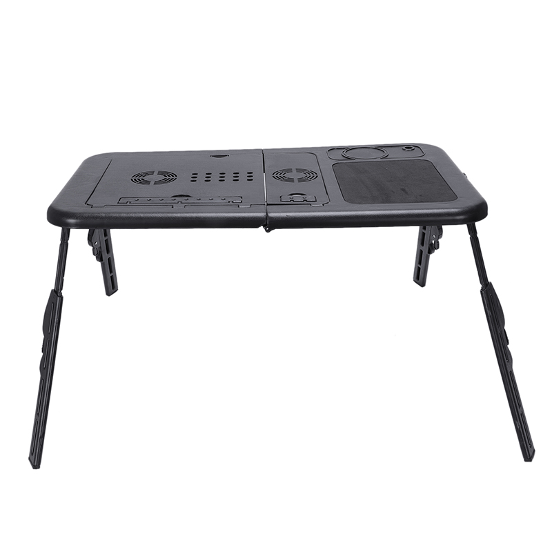 Adjustable Foldable Laptop Notebook Desk Table Stand Tray Portable Black