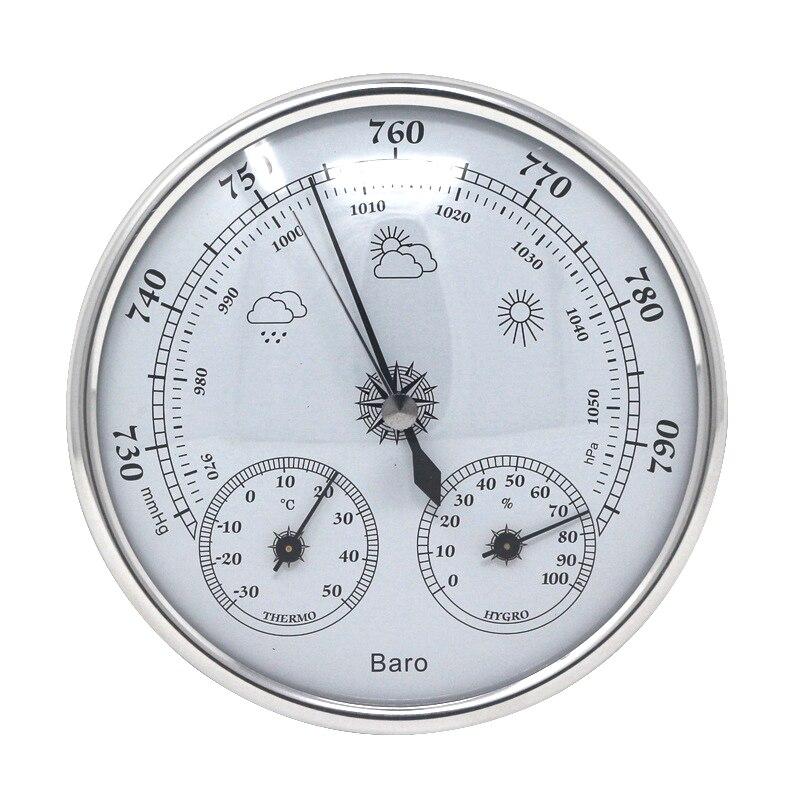 Аналоговый настенный барометр, термометр, гигрометр, монитор температуры и влажности, измеритель атмосферного давления воздуха для домашн...