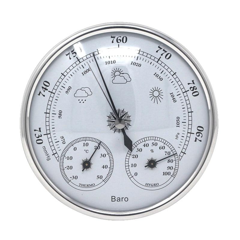 Parede analógica barômetro termômetro higrômetro temperatura monitor de umidade ar medidor de pressão atmosférica para uso doméstico