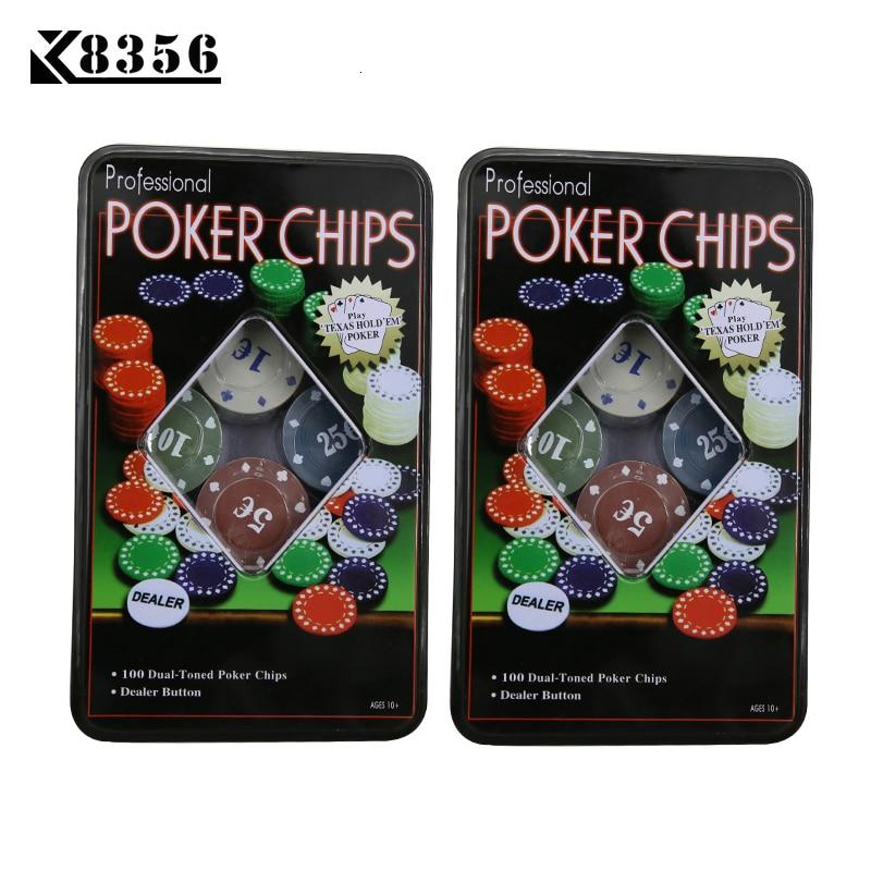 k8356-2sets-lot-quality-casino-set-texas-font-b-poker-b-font-chips-100-pieces-game-tokens-fine-plastic-chips-1-5-10-25-euro-four-par-dealer
