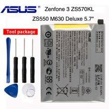 Orginal Asus C11P1603 Battery For ASUS Zenfone 3 Zenfone3 ZS550 M630 Deluxe 5.7inch Z016D ZS570KL 2870mAh цена и фото
