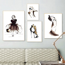 Abstract Beauty Canvas Wall Art Print Painting Poster Nordic Pictures For Bedroom Minimalist Decor Home
