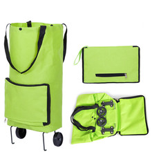 Shopping Bag with Wheels Foldable Reusable Shopping Cart for Women Supermarket Grocery Portable Collapsible Trolley Organizer
