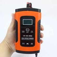 Sp124v carregador de bateria inteligente automático, 12v, automóvel e motocicleta, carregador de pulso, tela lcd-1240;