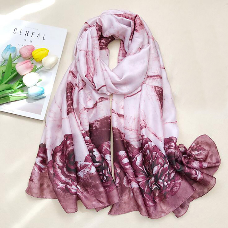 Sunscreen Scarves For Ladies New Fashion <font><b>180*90</b></font> Cm Women Scarf Shawl Long Beach Towel Floral All-Match Keep Warm Warps image