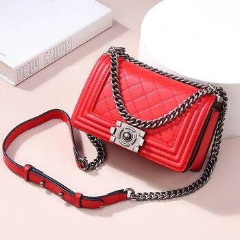 100% Genuine Leather Crossbody Bags 2019 Famous Brand Handbags Female Luxury Handbags Women Bags Designer Ladies Shoulder Bag