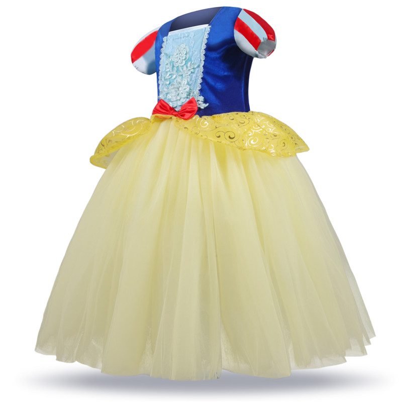 H2edf75de863143238b2ee1e1a8c4637eH 2019 Children Girl Snow White Dress for Girls Prom Princess Dress Kids Baby Gifts Intant Party Clothes Fancy Teenager Clothing