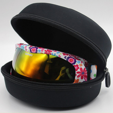 Adult Child Snow Ski Eyewear Case Water Resistant Portable Snowboard Skiing Gogg