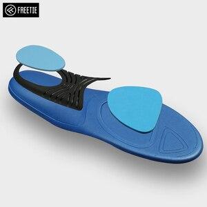 Image 2 - Palmilhas elásticas altas confortáveis da palmilha dos esportes da absorção de choque de freetie eva para sapatas de couro dos esportes que executam sapatas ocasionais