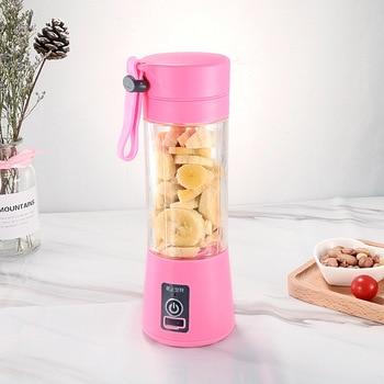 Portable Mixer USB Electric Fruit Juicer Handheld Smoothie Maker Blender Stirring Rechargeable Mini Food Processor Juice Cup 12