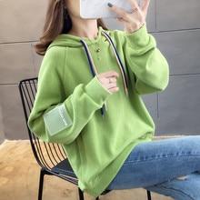 2019 New Fashion Long Sleeves Harajuku Pullovers Tops O-neck Women's Hooded Sweatshirt Tops