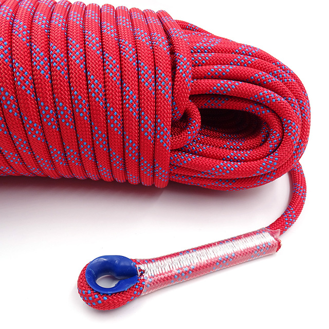 50m Static Rock Climbing Rope 10mm Tree Wall Climbing Equipment Gear Outdoor Survival Fire Escape Rescue Safety Rope 10m 20m 30m 5