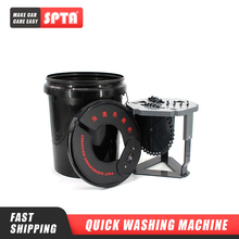 SPTA 20L Electric Polishing Pad Washing Bucket Foam Buffing Pad Cleaner Wool Pads Washing Bucket Buffer Powered Pad Washer