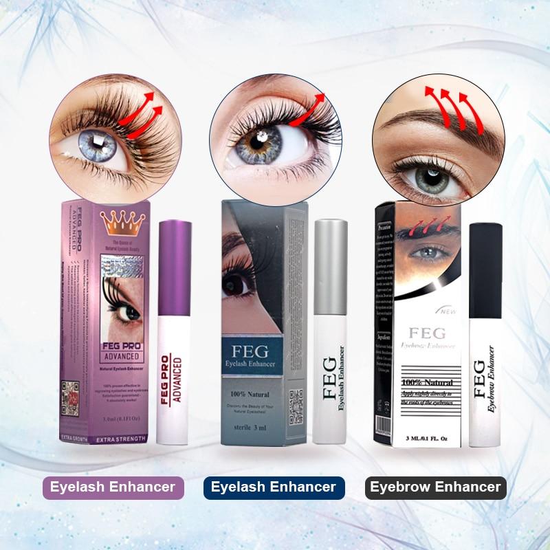 FEG Eyelash Growth Serum 100% Original Eyelash Growth Natural Lash Medicine Treatments Mascara Lengthening Longer Eyebrow Growth