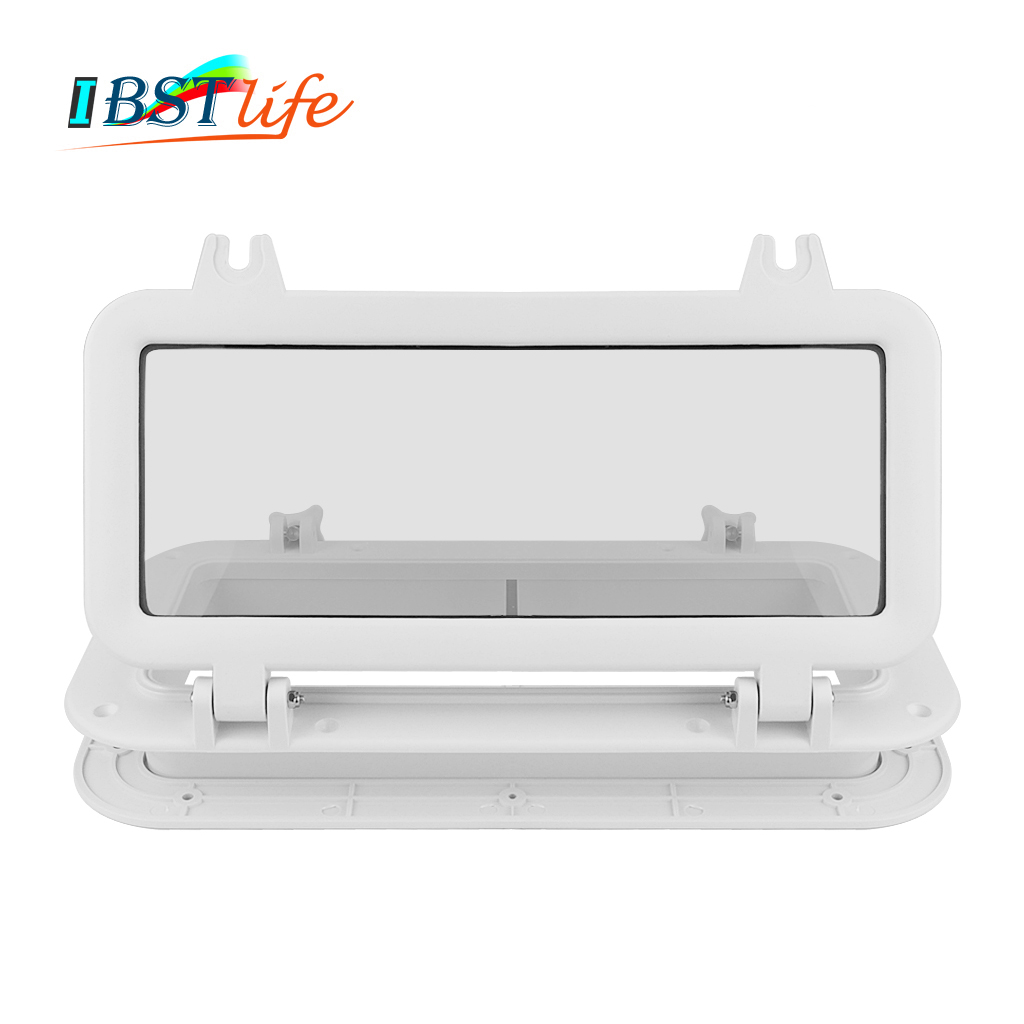 Marine Boat Yacht RV Porthole ABS Plastic Rectangular Hatches Port Lights Replacement Waterproof Windows Port Hole Portligt