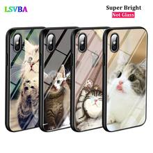Black Cover Sleeping Kitten Cat for iPhone X XR XS Max for iPhone 8 7 6 6S Plus 5S 5 SE Super Bright Glossy Phone Case black cover lovely cat for iphone x xr xs max for iphone 8 7 6 6s plus 5s 5 se super bright glossy phone case