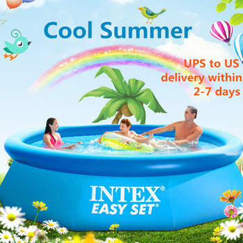 INTEX-piscina inflable para adultos, piscina grande familiar, estanque de peces plegable