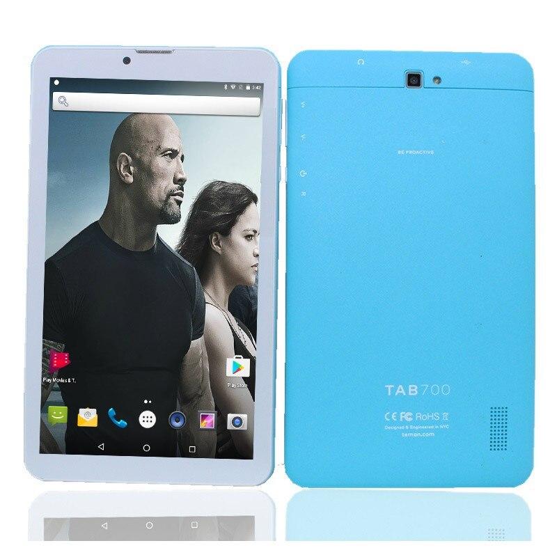 7 Inch MTK8735 Quad Core Dual Sim Card Android 6.0 4GLTE HD IPS Sree 1024*600 Phone Call Tablet Pc 1+8GB GPS Kids Blue LF705 PC