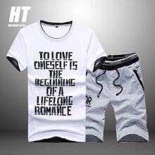 Men Sets Summer Fashion 2021 Short Sleeve T Shirt Tracksuit Men SweatShirt+2pc Casual Pants Male Print Sportswears Men Clothing
