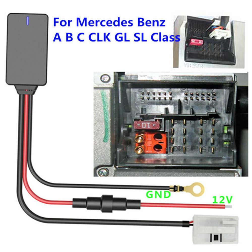 Auto Adattatore Bluetooth AUX Cavo 12-pin Per Mercedes W169 W245 W203 W209 W164 Parti di Ricambio Accessori