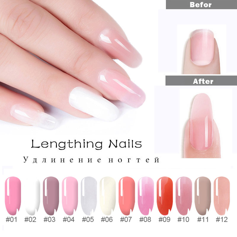Drop Shipping 4pcs/set Poly Gel Nail Kit Quick Building Gel Nail Polish For Nails Extensions Hard Gel Polygel Nail Kit Manicure 3