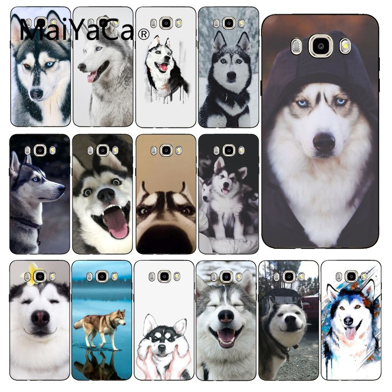 Maiyaca Animal Husky cute Puppy <font><b>Dog</b></font> Phone <font><b>Case</b></font> Back Cover For <font><b>Samsung</b></font> Galaxy <font><b>J7</b></font> J6 J8 J4 J4Plus <font><b>J7</b></font> DUO J7NEO J2 <font><b>J7</b></font> Prime image