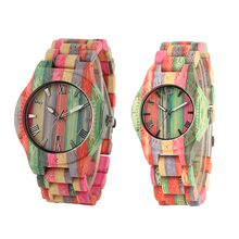 Full Bamboo Handmade Watches Women Multiful Color Casual Quartz Wood
