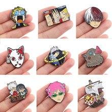 Dz1172 criatividade anime figuras bonito esmalte pinos crachá para mochila colar lapela pino chapéu jóias coleção presentes para amigos