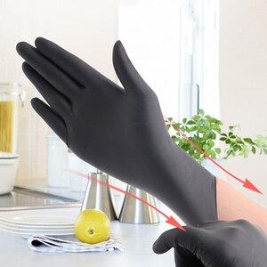 Image 3 - 50/100Pcs Blauw/Zwart Wegwerp Handschoenen Latex Werk/Afwassen/Keuken/Werk/Rubber/tuin Handschoenen Universeel Voor Links Rechterhand