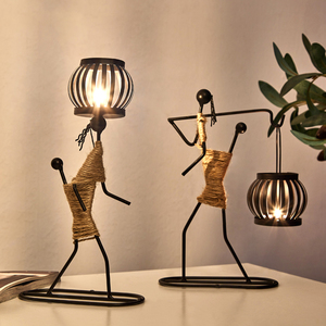 Image 3 - Candelabros decorativos de centro de mesa de Metal para velas, centros de mesa, candelero para jardín, centro de mesa de boda, decoración artística