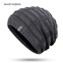 Новая мода зимняя мужская вязаная шапка женская толстая подкладка плюс бархатная теплая шапка Повседневная флисовая мягкая шапка уличная облегающая шапка