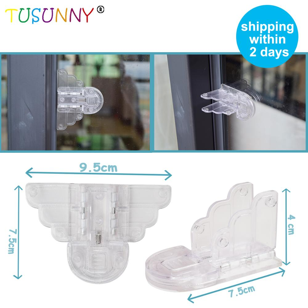 TUSUNNY 3pcs Baby Safety Lock For Sliding Door Window Stop Baby Sliding Window Lock Children Protection Lock Window Safety Lock