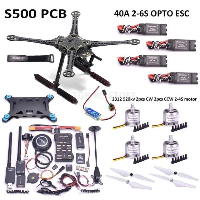 S500 PCB X500 500mm F450 Quadcotper Frame Kit Pixhawk 2.4.8 32 Bit Flight Controller M8N GPS Mini OSD 2312 920KV 40A ESC 2 6S