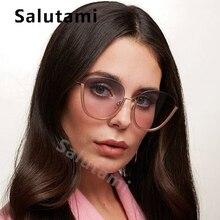 купить Chic Chain Half Frame Sunglasses For Women 2019 New Fashion Alloy Gradient Round Sun Glasses Female Pink Mirror Circle Eyewear дешево