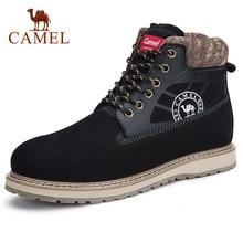 CAMEL Echt Leer mannen Schoenen Paar Modellen Mode Martin Enkel Korte Laarzen Koeienhuid Tooling Laarzen Mannen en Vrouwen Schoenen