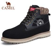 CAMEL ของแท้หนังผู้ชายรองเท้าคู่รองเท้าแฟชั่นมาร์ตินข้อเท้ารองเท้าสั้น Cowhide รองเท้าผู้ชายผู้หญิงรองเท้า